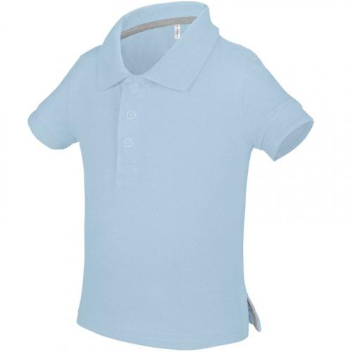 Polo bébé bleu clair brodé