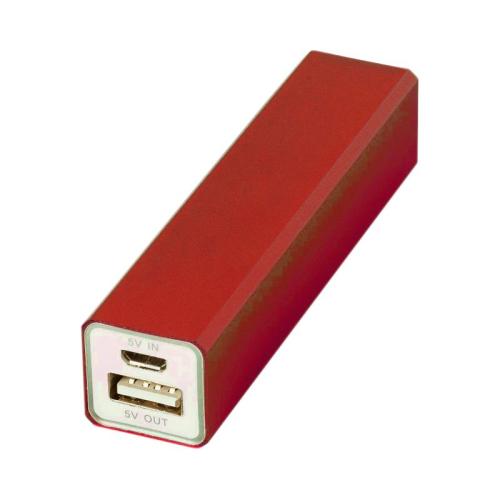 Power bank personnalisée rouge
