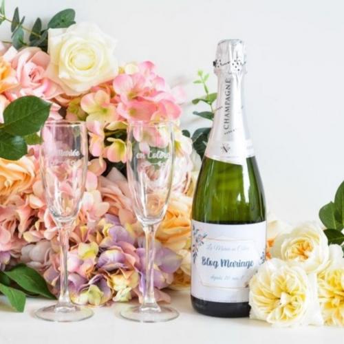 Coffret à Champagne personnalisé Mariage