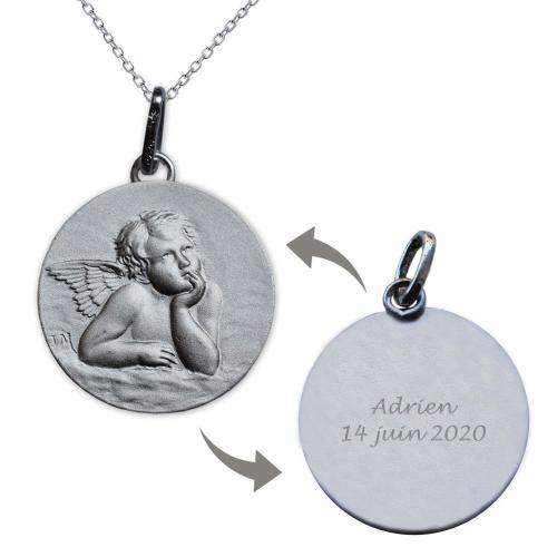 Médaille chérubin de Raphaël gravée