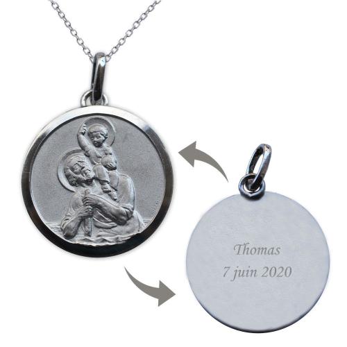 Médaille St Christophe personnalisée