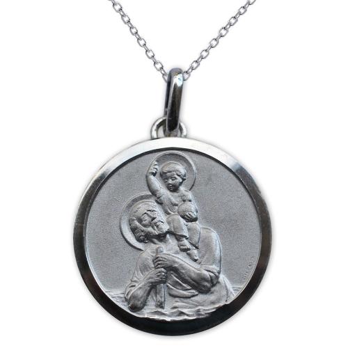 Médaille de Saint Christophe gravée