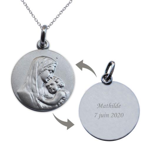 Médaille vierge et l'enfant recto et verso