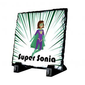 Ardoise carrée personnalisée super héros