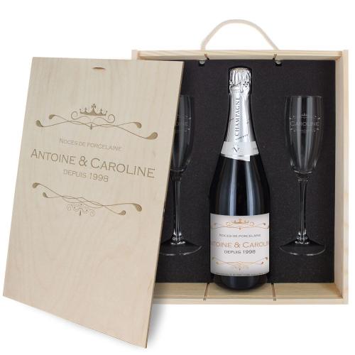 Coffret à champagne personnalisé Luxury