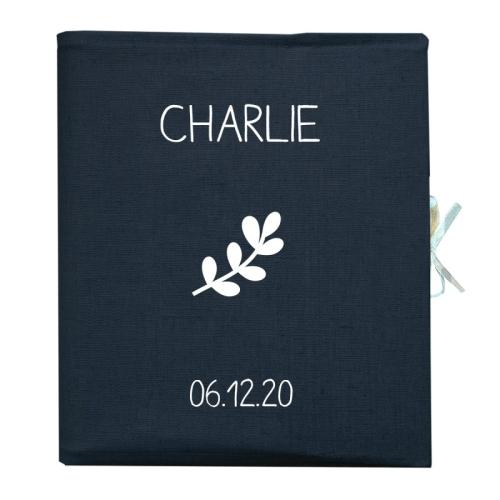Livre de naissance personnalisé bleu marine
