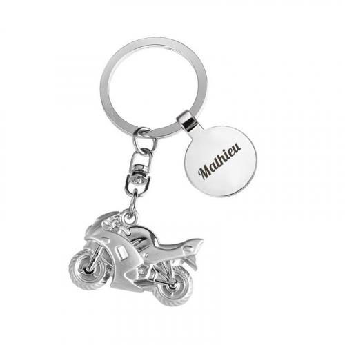 Porte clés moto gravé