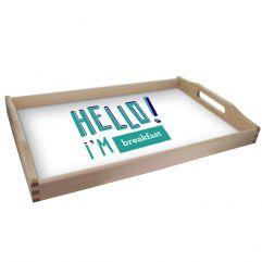 Plateau de service personnalisé HELLO