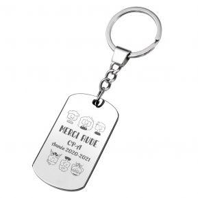 Porte-clés plaque Merci Maîtresse