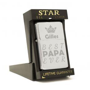 Briquet Star® gravé fête des pères