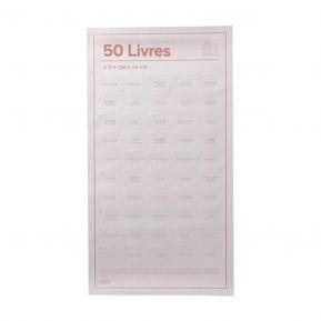 Affiche des 50 livres à lire à tout prix
