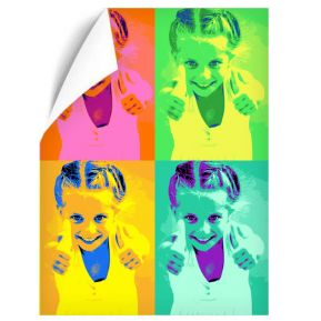 Affiche Pop Art portrait 4 photos