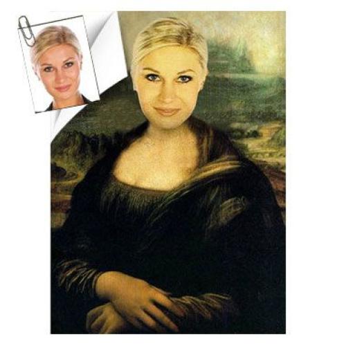 Affiche personnalisée femme Joconde