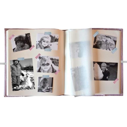 Album photo personnalisé ouvert
