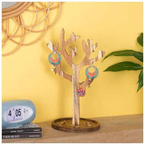 arbre à bijoux en bois