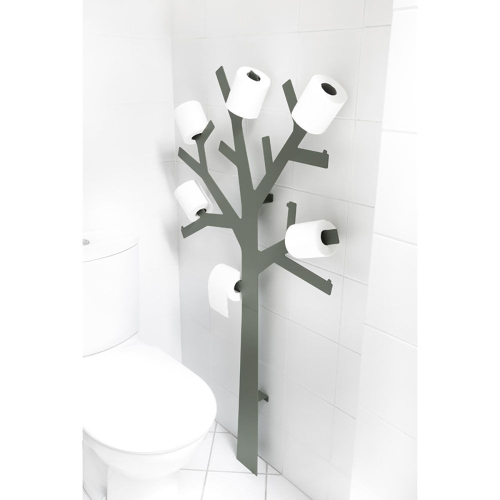 Porte papier wc pqtier gris