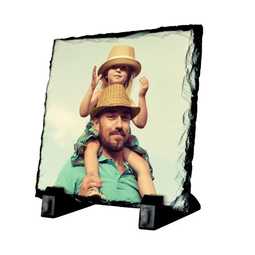 Ardoise carrée imprimée d'une photo