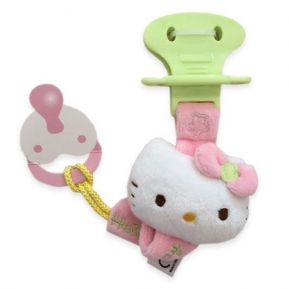 Attache-tétine Hello Kitty