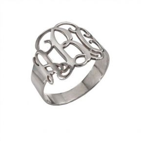 Bague initiale monogramme