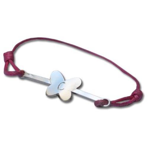 Bracelet barette papillon en argent