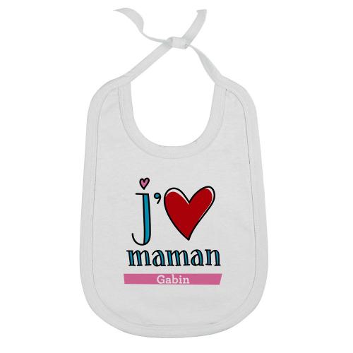 Body personnalisé j'aime Maman