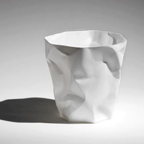 Corbeille à papier design blanche