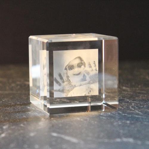 Bloc cubique personnalisé photo