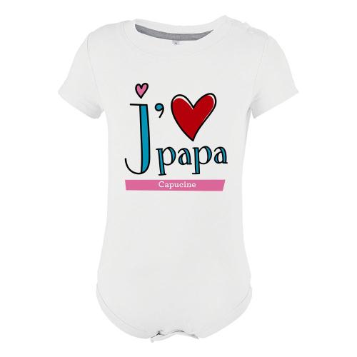 Body personnalisé j'aime Papa