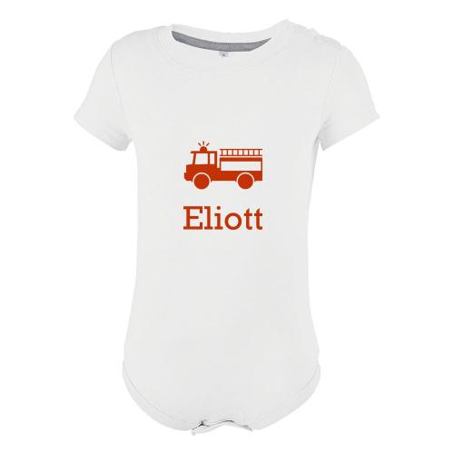 Body bébé imprimé motif pompier
