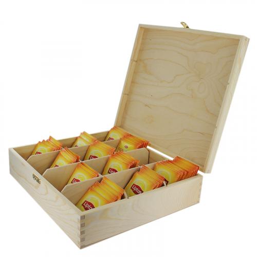 Boîte à thé Lipton 12 compartiments