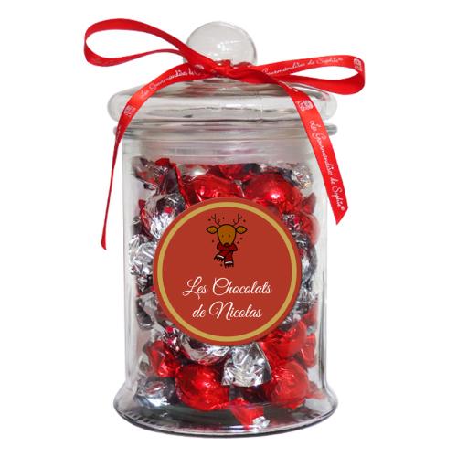 Bonbonnière Noël - Papillotes de chocolats