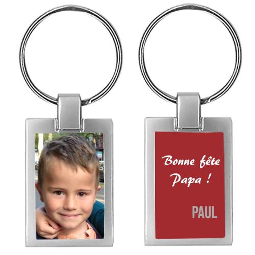 Porte-clés photo bonne fete papa