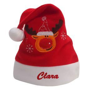 Bonnet de Noël enfant brodé prénom