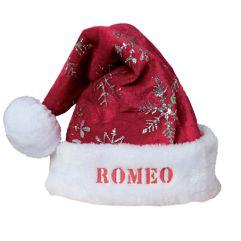 Bonnet de Noël à flocons pailletés