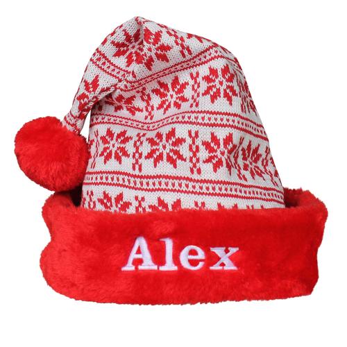 Bonnet de noël en tricot personnalisé