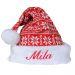 Bonnet de noël en tricot prénom