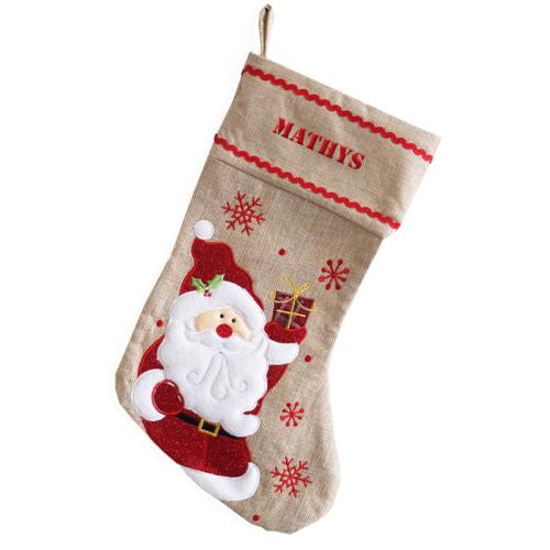 Chaussette de Noël Papa Noël personnalisée