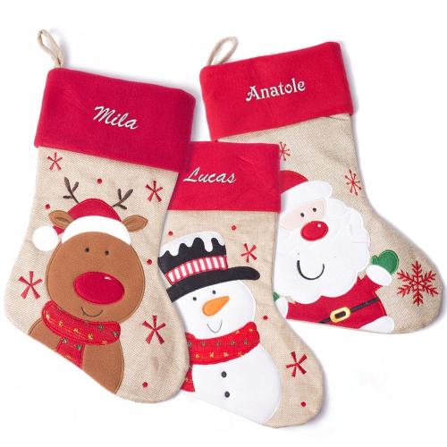 Bottes de Noël enfant personnalisés prénom
