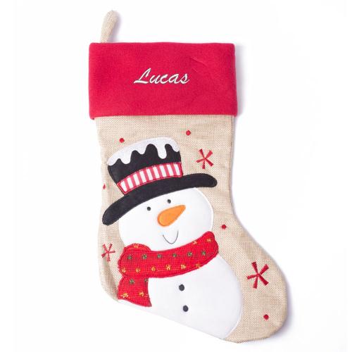 Botte de Noël enfant - Bonhomme de neige