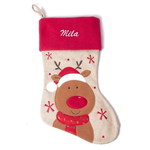 Botte de Noël enfant - Renne de Noël