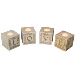 Bougeoir cube Lettres