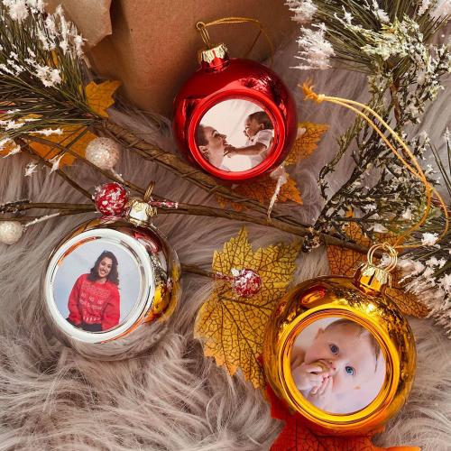 Boule de Noël photo de famille