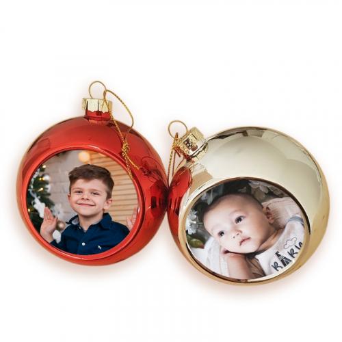 Duo de boules de Noël photo sublimées