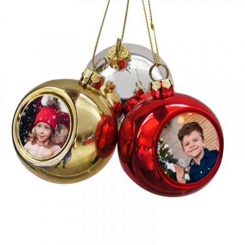 Trio de boules de Noël photo sublimées