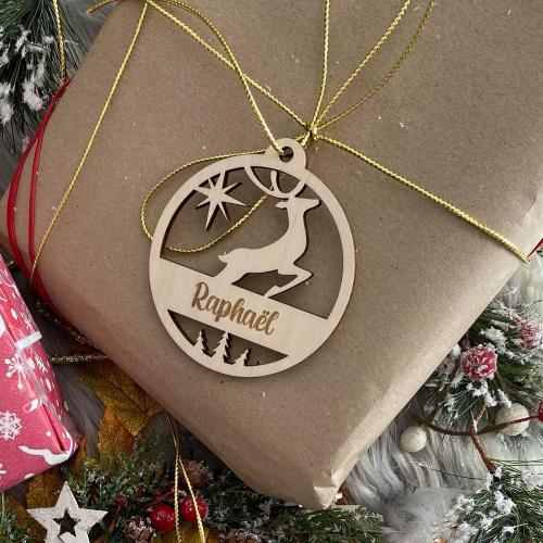 Boule de Noël Renne de Noël personnalisée prénom