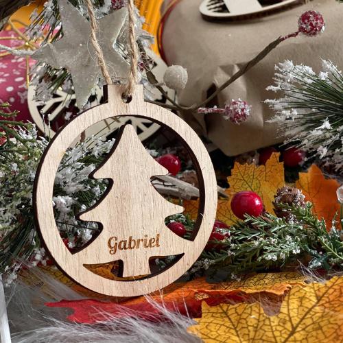 Boule de Noël sapin avce son prénom