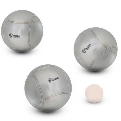 Triplette de boules de pétanque striées gravées avec votre texte