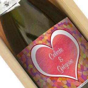 Champagne Saint Valentin personnalisé