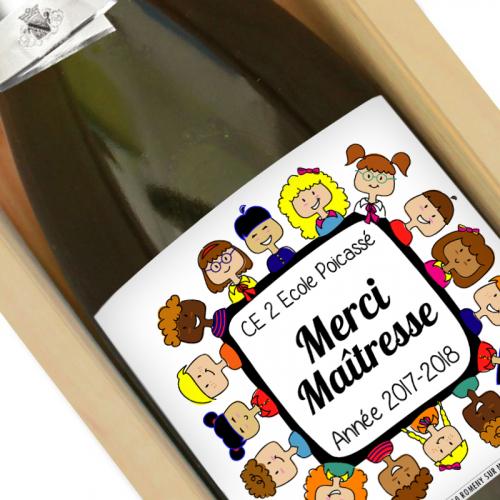 Bouteille de champagne merci maîtresse
