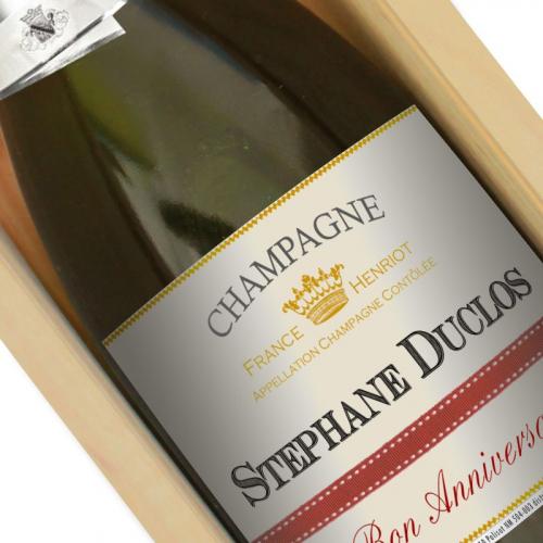 Bouteille de champagne persopnnalisée